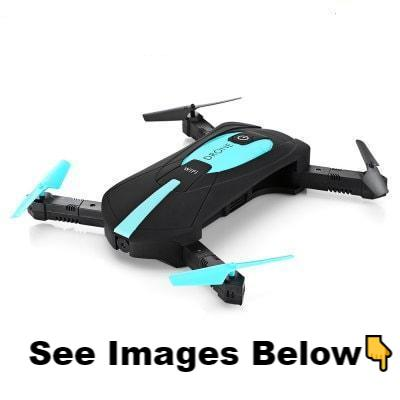 The Slick Foldable Pocket Drone (Autopilot, 3D Flips + Stunts, Flight Path Design, HD Camera)