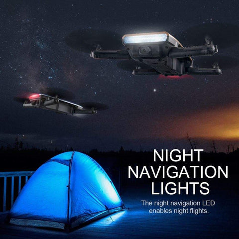 Night LED Light: Makes drone eye-catching in the night sky.