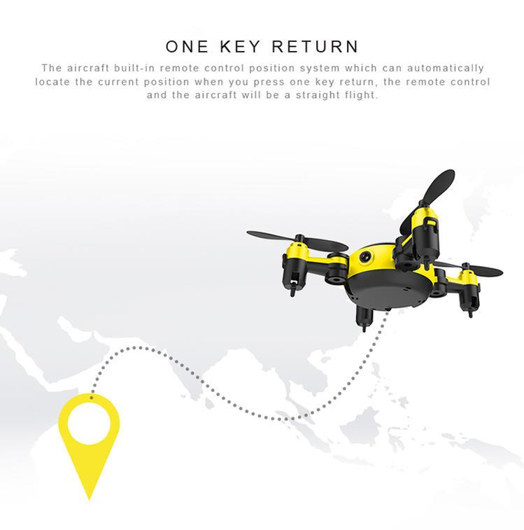 Drone flies back to you on command in seconds