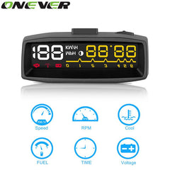"Onever Universal 3.5"" Screen Auto OBDII Car HUD Head Up Display OBD2 Plug Play Interface Windshield Projector Fuel Comsumption"