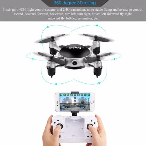 The Incredible Mini Drone (Voice Control, 360 Tricks, VR Support, HD Camera)