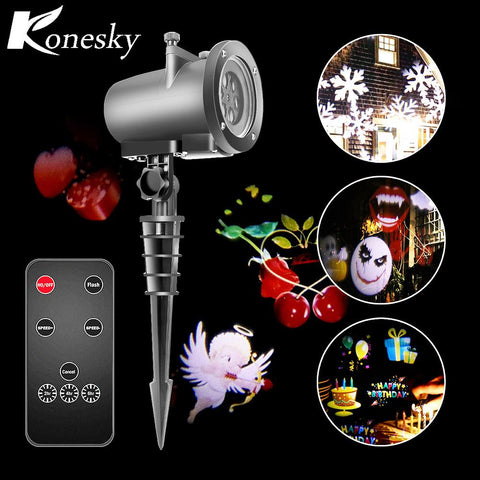 Halloween Christmas light projector led 20 standard replaceable lens wall light of the night lamp of projection of the landscape