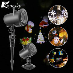 Halloween Christmas light projector led 12 standard replaceable lens wall light of the night lamp of projection of the landscape