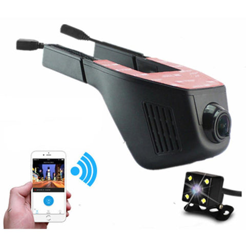 WIFI Car DVR Dash Camera Hidden Video Recorder with Full HD 1080P 170 Degree Wide Angle