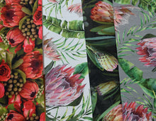 Chenille Table Runner - wild protea