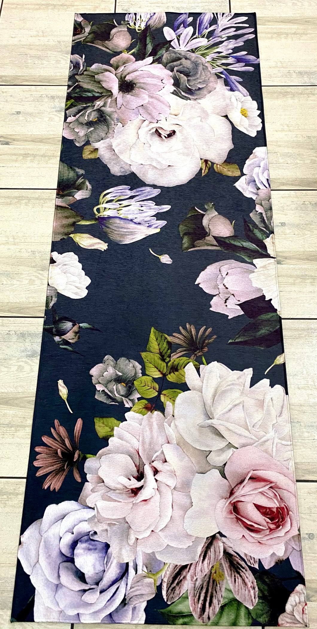 Runner mat - White Rose
