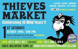 Come see us at Thieve's Market!