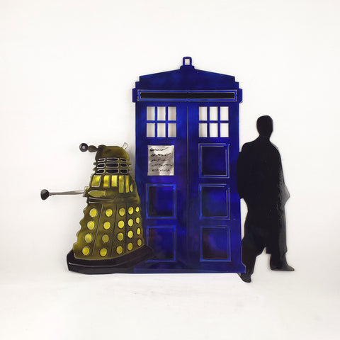 Dalek, Tardis, and Tenth Doctor - Doctor Who