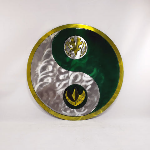 Green and White Power Ranger Yin Yang