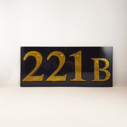 Sherlock 221B Address Plate