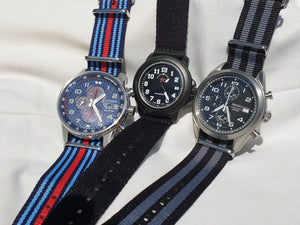 NATO Strap Striped Navy Blue and Red ''Martini Racing''