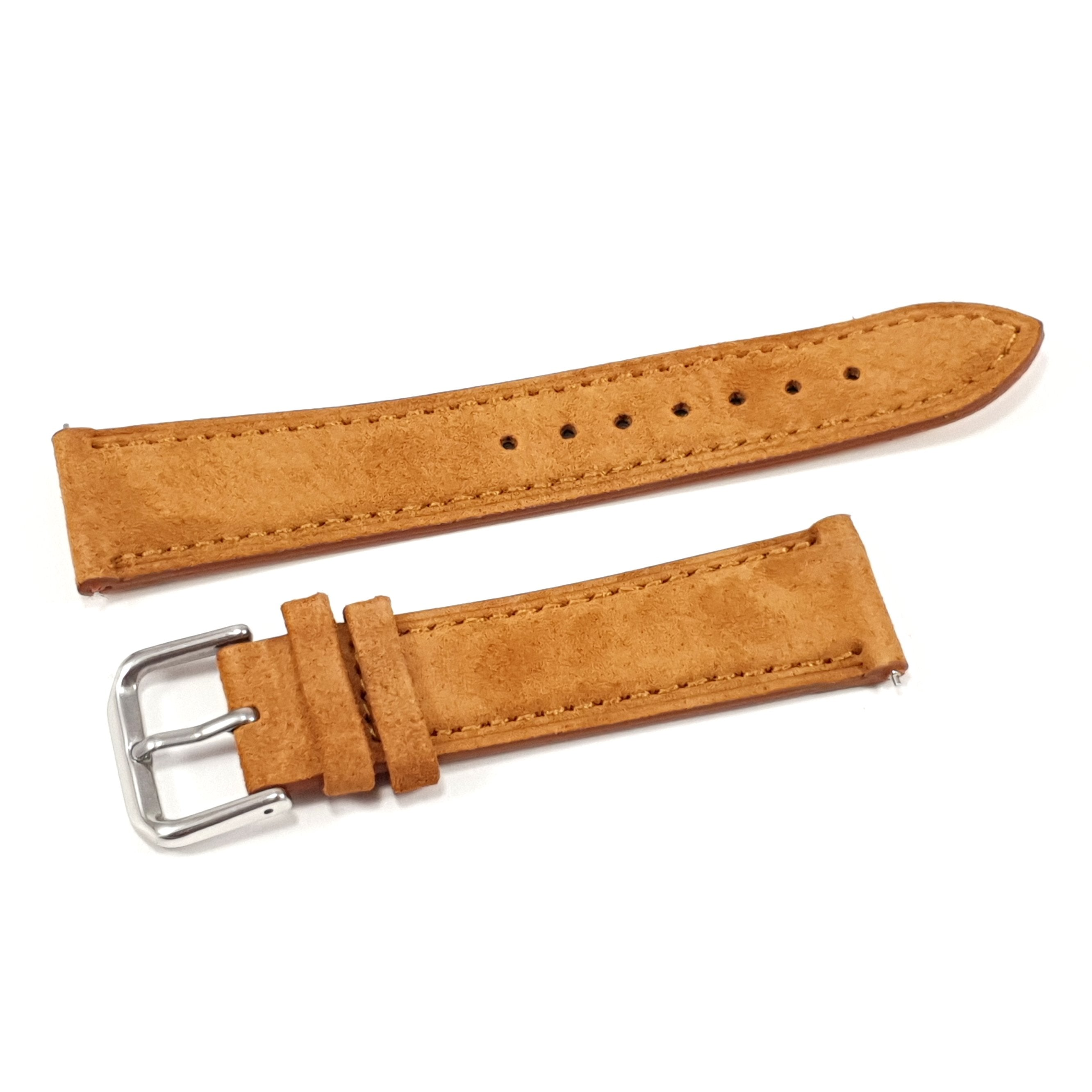 Leather Strap Classic Suede Brown