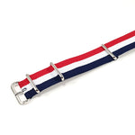 NATO Strap Striped Red, White and Navy