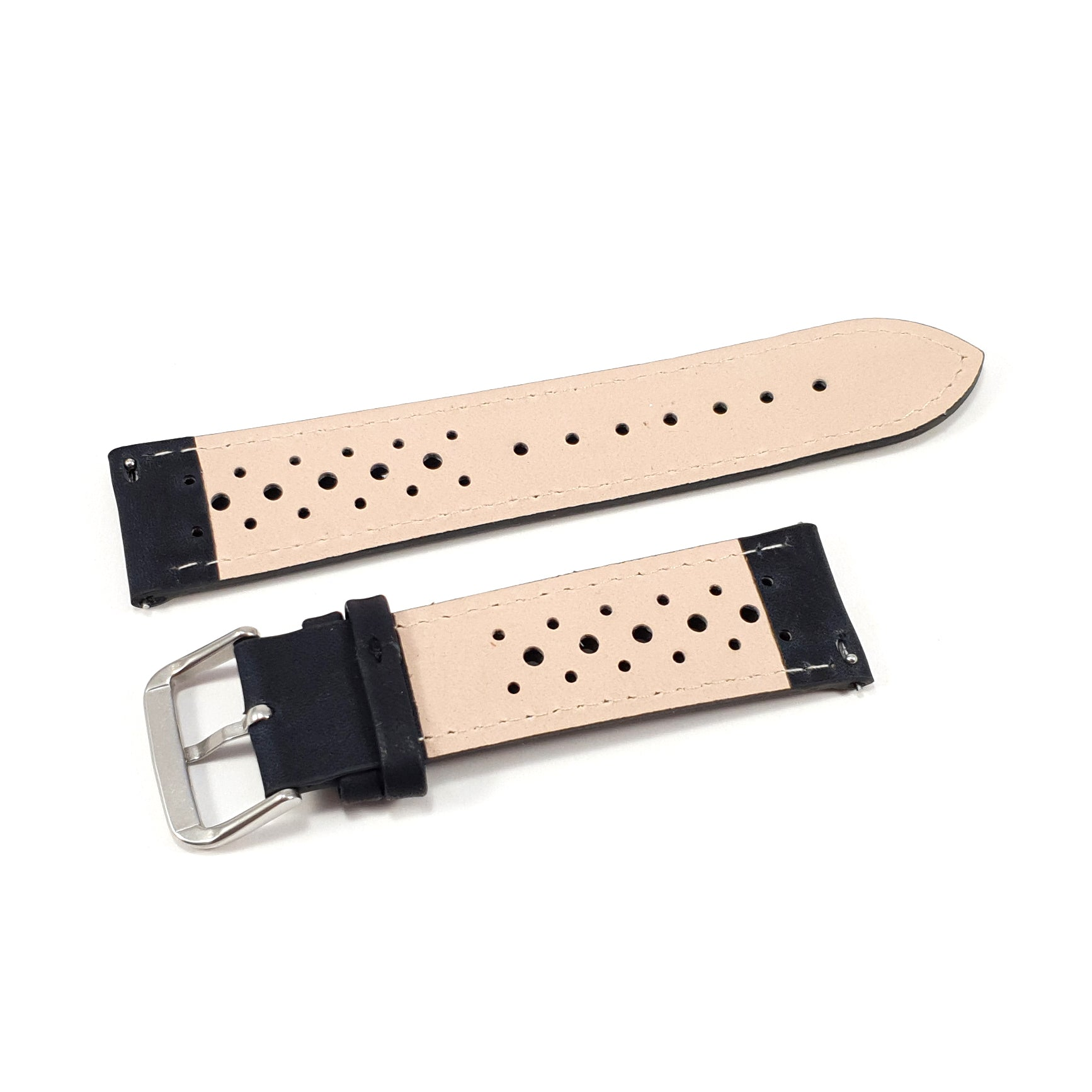 Leather Strap Racing Black