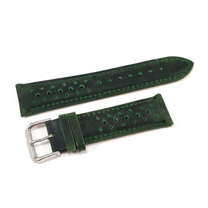 Leather Strap Racing Green