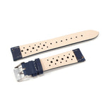 Leather Strap Racing Navy