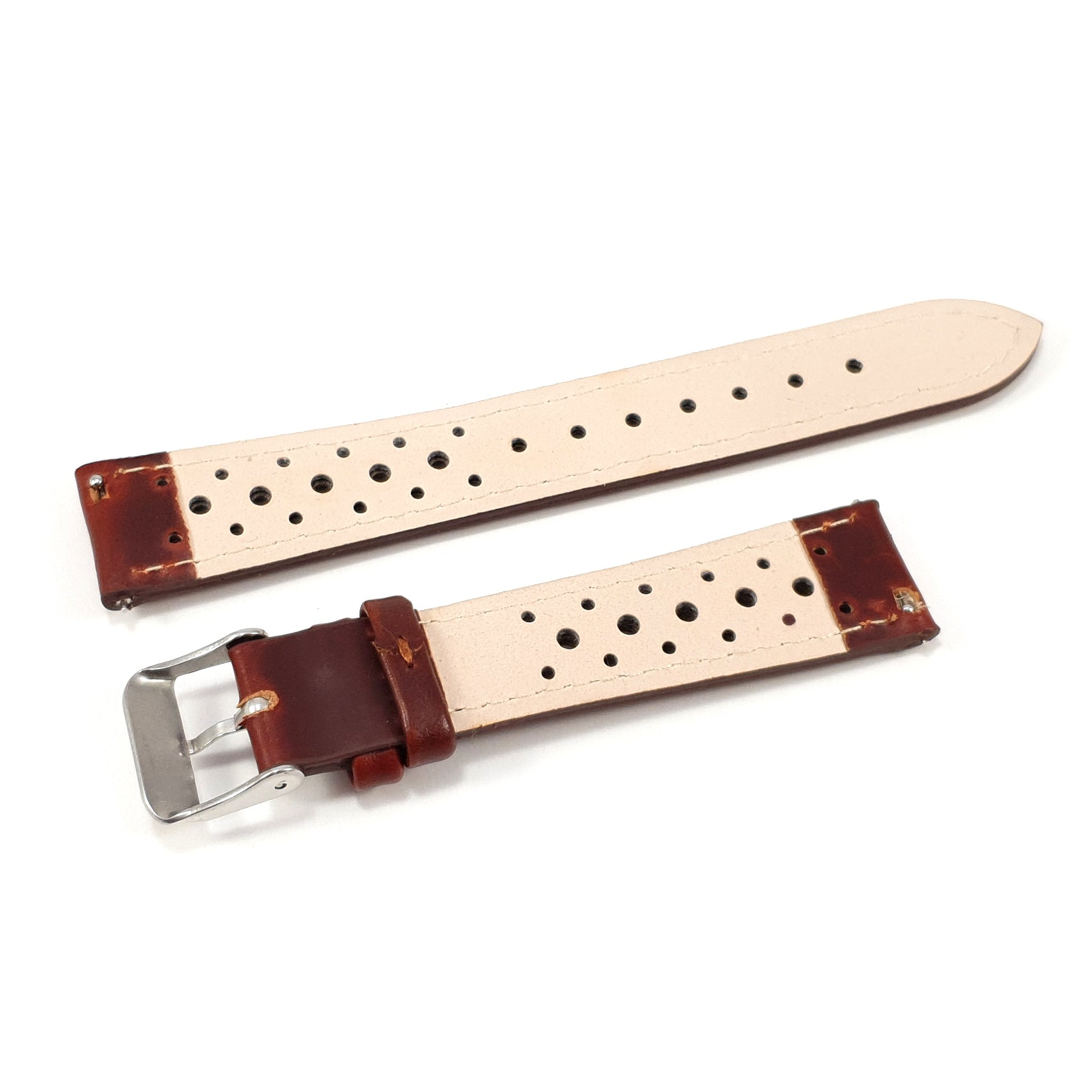 Leather Strap Racing Burgundy