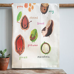 Nuts Tea Towel