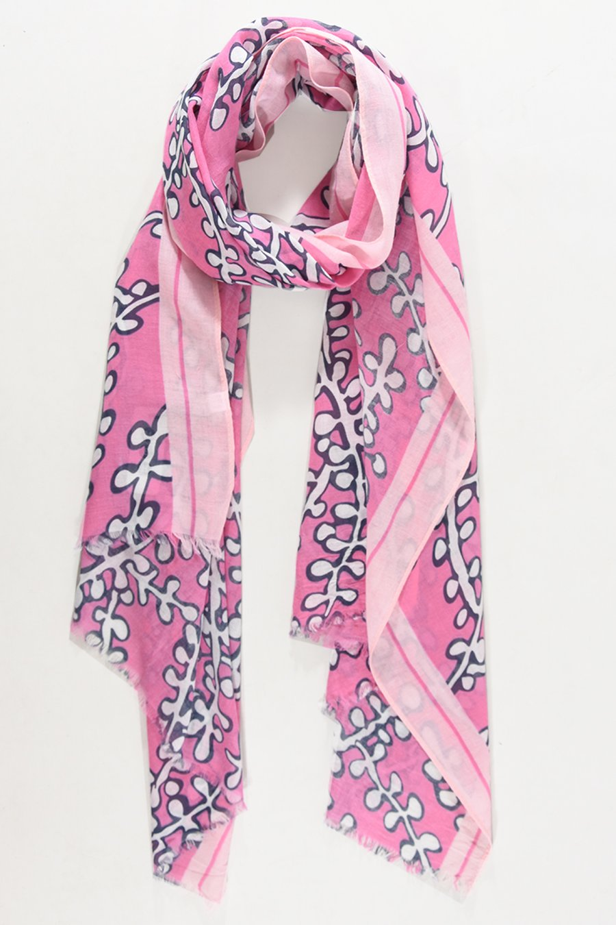 Pretty Pink Abstract Coral Scarf (5 left!)