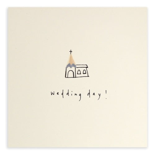 Wedding Day Pencil Shavings Card
