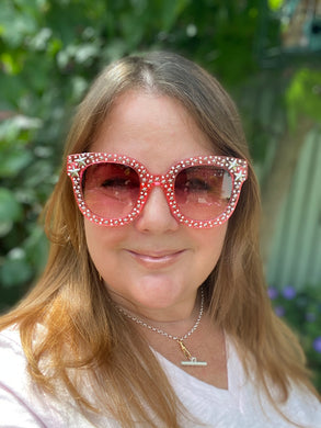 Pink Star Studded Sunglasses (Only 3 pairs left!)
