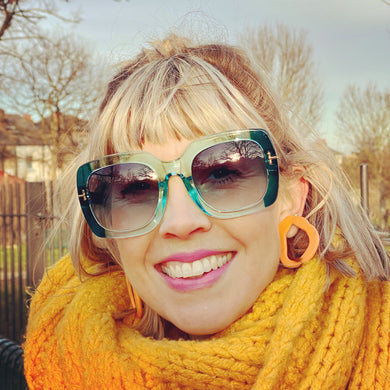 Turquoise Square Retro Sunglasses (4 pairs left!)