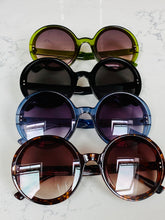 Load image into Gallery viewer, Dark Tortoiseshell Jackie O Round Sunglasses (8 pairs left!)
