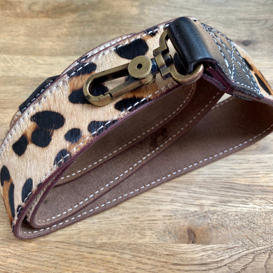 Leopard Print Recycled Leather Bag Strap