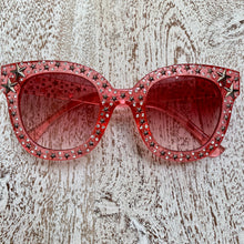 Load image into Gallery viewer, Pink Star Studded Sunglasses (Only 2 pairs left!)