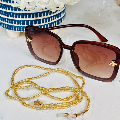 Gold Bead Glasses Chain