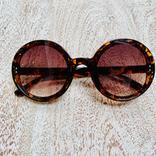 Load image into Gallery viewer, Dark Tortoiseshell Round Sunglasses (3 pairs left!)