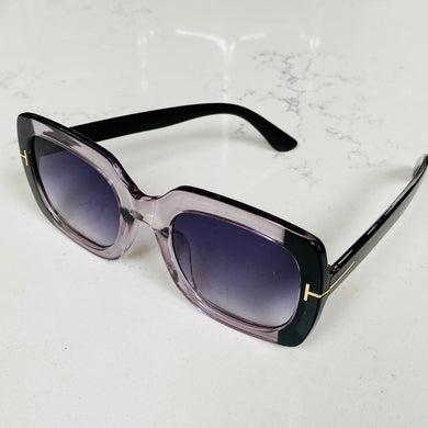 Black/Clear Square Retro Sunglasses (5 pairs left!)