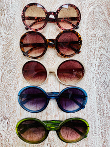 Blue Round Sunglasses (Last pair!)