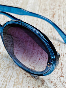 Blue Round Sunglasses (6 left!)