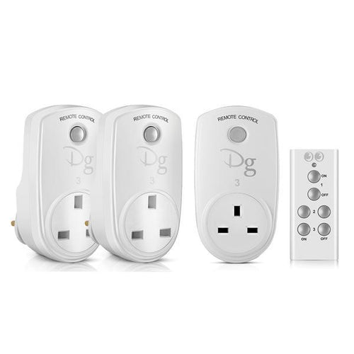 Digoo Remote Control Plug Socket Package (x3 Sockets)