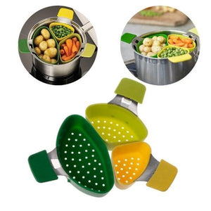 Creative Cooking Basket Three-piece Small Steamer Steamed Cooking Baskets
