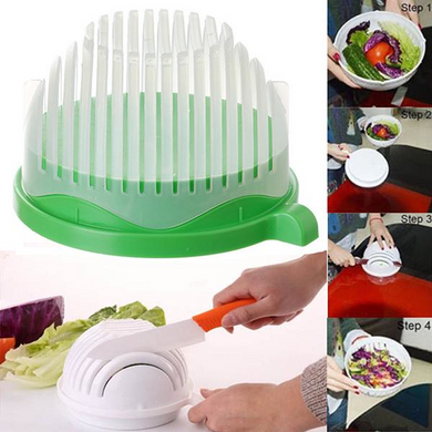 60 Seconds Salad Maker Fruit Salad Cut Bowl Salad Artifact Kitchen Tools Fruit Tools