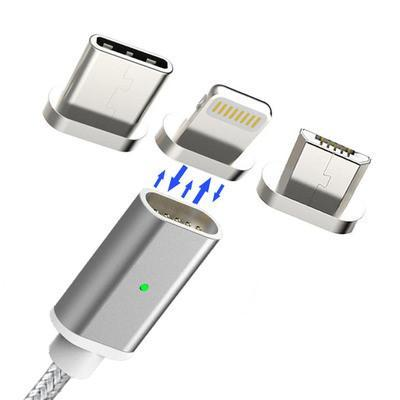 3 In 1 Magnetic Apple/Micro/Type-C USB Cable Price Low To $3.99