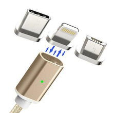 Load image into Gallery viewer, 3 In 1 Magnetic Apple/Micro/Type-C USB Cable Price Low To $3.99