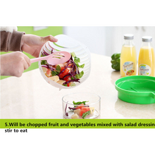 Load image into Gallery viewer, 60 Seconds Salad Maker Fruit Salad Cut Bowl Salad Artifact Kitchen Tools Fruit Tools