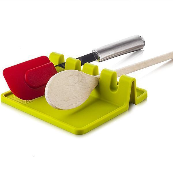 Kitchen Silicone Utensil Rest-Kitchen & Dining-skrstar.com-Green-
