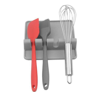 Kitchen Silicone Utensil Rest-Kitchen & Dining-skrstar.com-Grey-