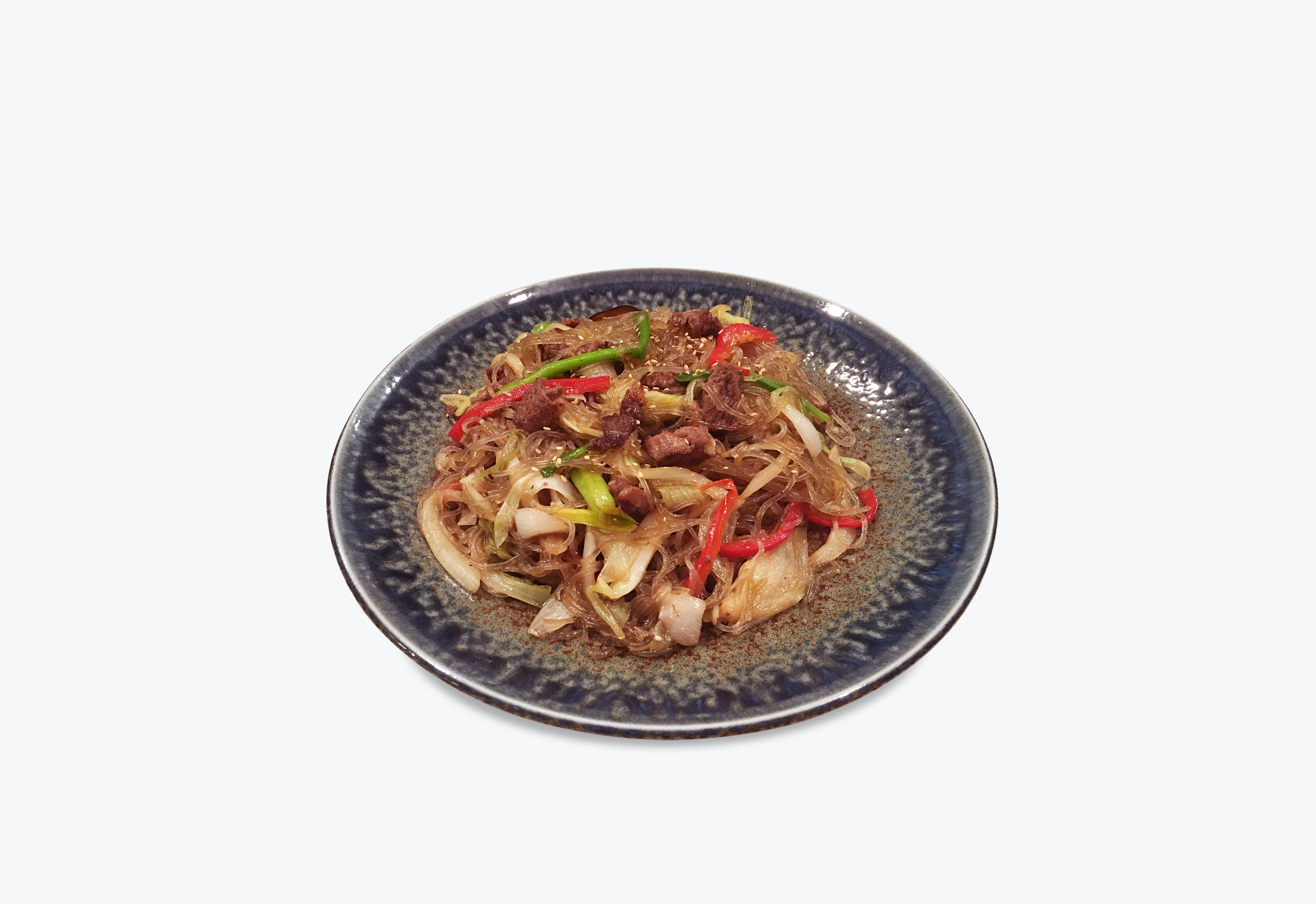 Stir-Fried Noodles with Bulgogi<br>불고기잡채