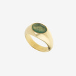 Load image into Gallery viewer, La Chevalière Ring - Moss Agate
