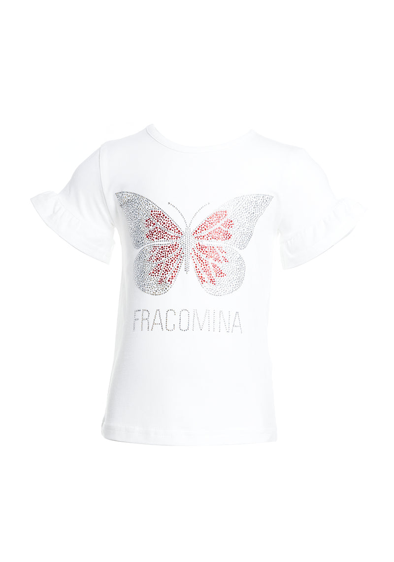 T-shirt regular con logo-FRACOMINA MINI-FM20SSB1423