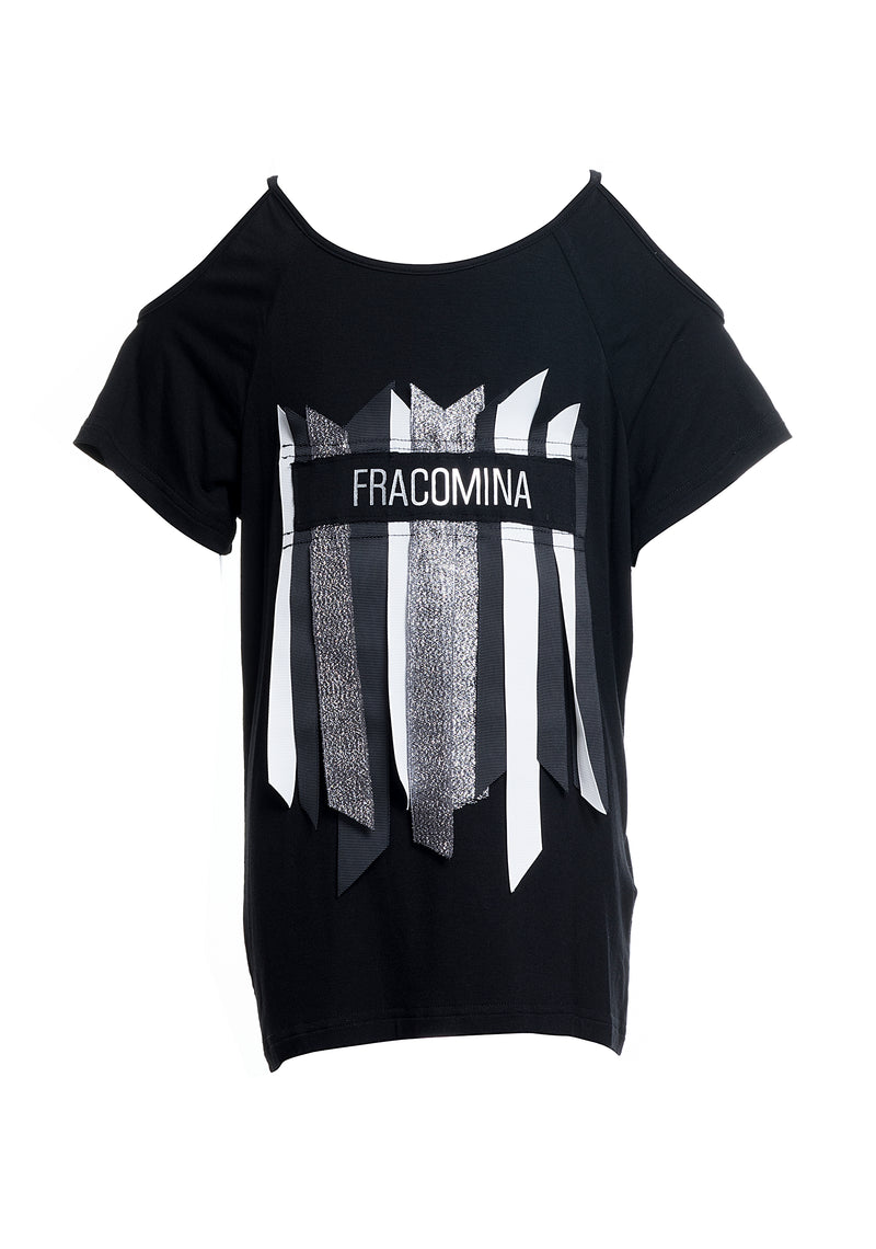 T-shirt over loose fit con stampa-FRACOMINA MINI-FM20SSG1164 (2211473850497)