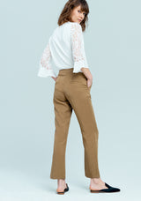 Brown long trousers-FRACOMINA-FR19SM651