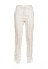 Trousers with lace hem-FRACOMINA-FR19SMTRISCIA