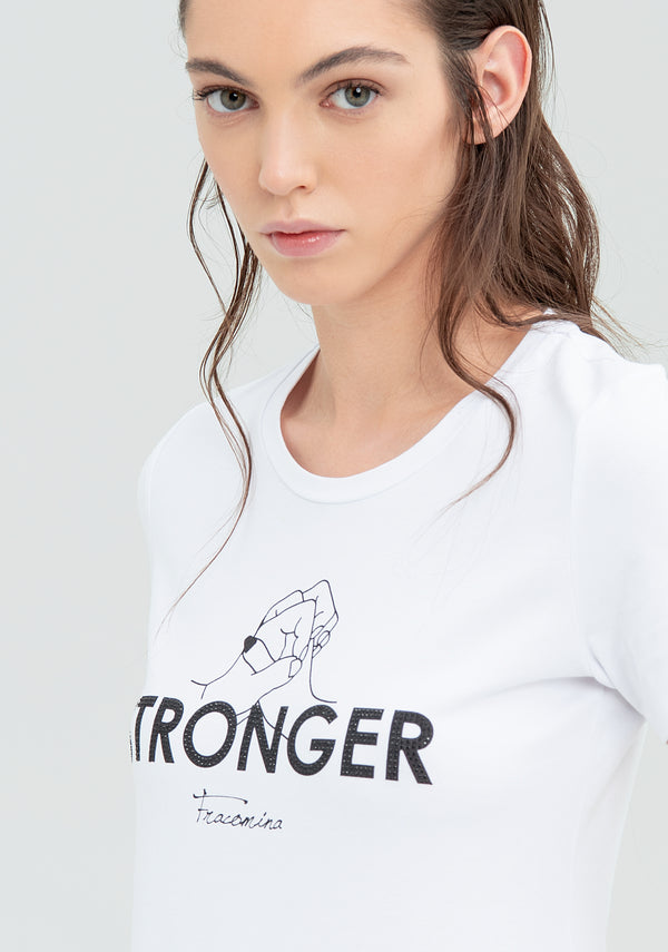 T-shirt con stampa Stronger-FRACOMINA-FR20SM331 (2202131398785)