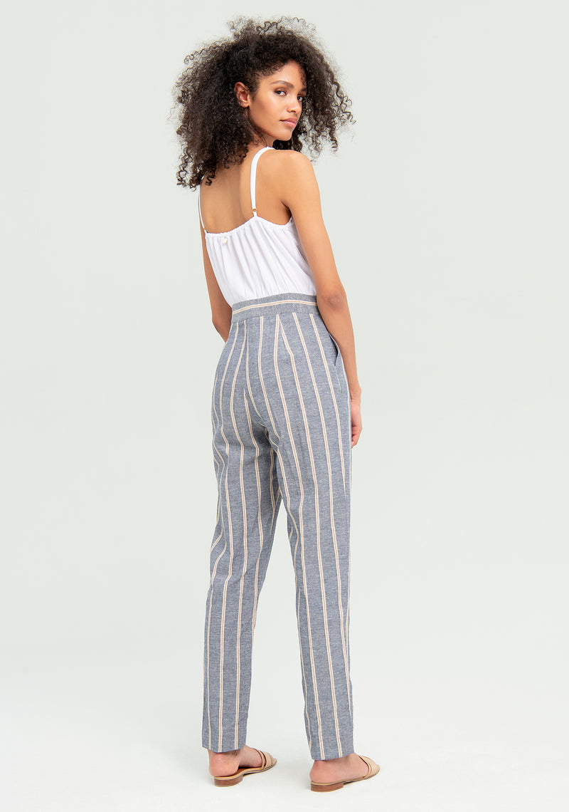 Jumpsuit con Pantalone a righe-FRACOMINA-FR20SM536